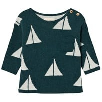 Bobo Choses Baby Knitted Jumper Alma Green