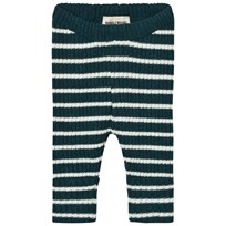 Bobo Choses Baby Knitted Leggings Stripes Dark Blue Green
