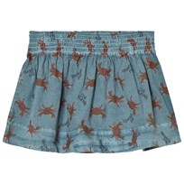 Bobo Choses Flared Skirt Crab Your Hands Blue