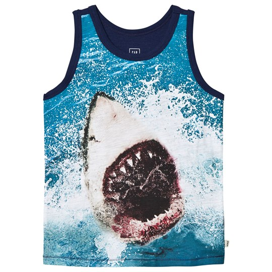 Gap Graphic Slub Shark Print Linne OPTIC WHITE