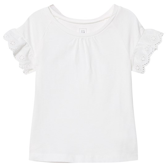 GAP Eyelet Short Sleeve Tee New Off White NEW OFF WHITE