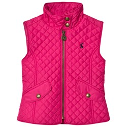 Joules Fuchsia Quilted Vest