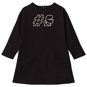 Image of Karl Lagerfeld Kids Black #Karl Jersey Dress with Pockets 12 years (2743691729)