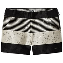 Karl Lagerfeld Kids Multi Tweed and Sequin Zip Shorts M91