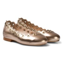 Chloé Gold Leather Pumps 240