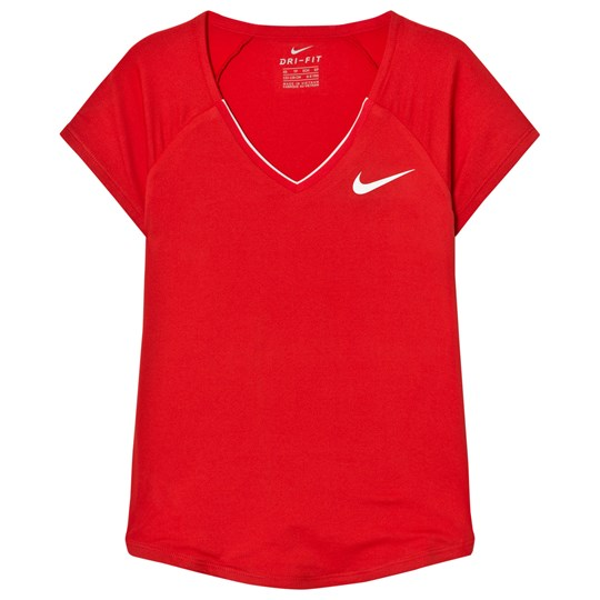 NIKE Girls Red Nike Pure Top ACTION RED/WHITE