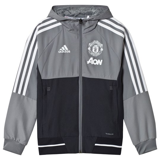 Manchester United Manchester United ´17 Junior Pre Match Jacket GREY/NIGHT GREY/WHITE