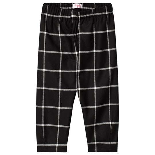 Il Gufo Black and White Check Trousers 099