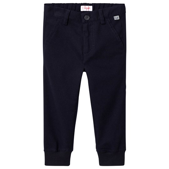 Il Gufo Navy Cuffed Trousers 497