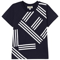 Kenzo Navy Logo Front and Back Print Tee 490