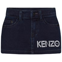Kenzo Dark Indigo Branded Denim Skirt 460