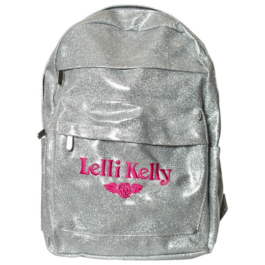 Lelli Kelly Silver Glitter Backpack Silver