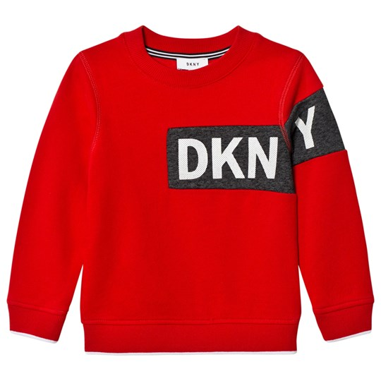 DKNY Red Branded Sweatshirt 991