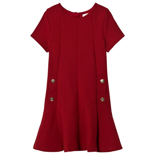 Chloé Red Milano Dress Branded Details 953