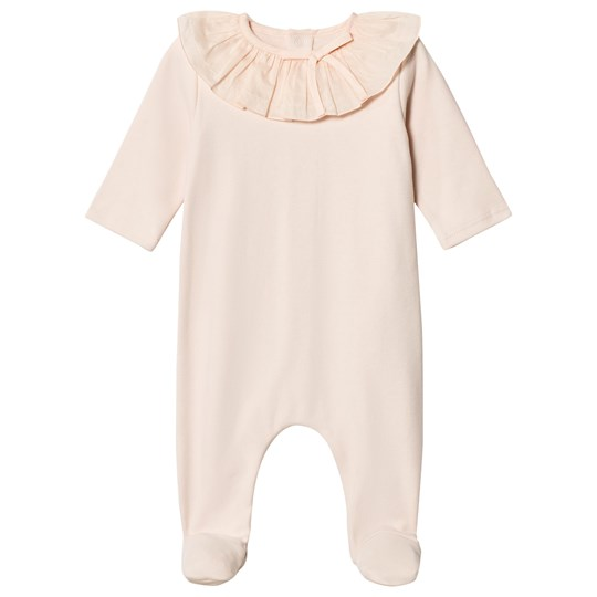 Chloé Pink Footed Baby Body Ruffle Collar 471