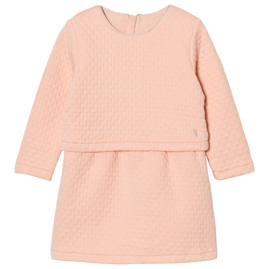 Carrément Beau Pink Quilted Long Sleeve Dress 44D