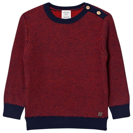 Carrément Beau Red Navy Knit Sweater V99