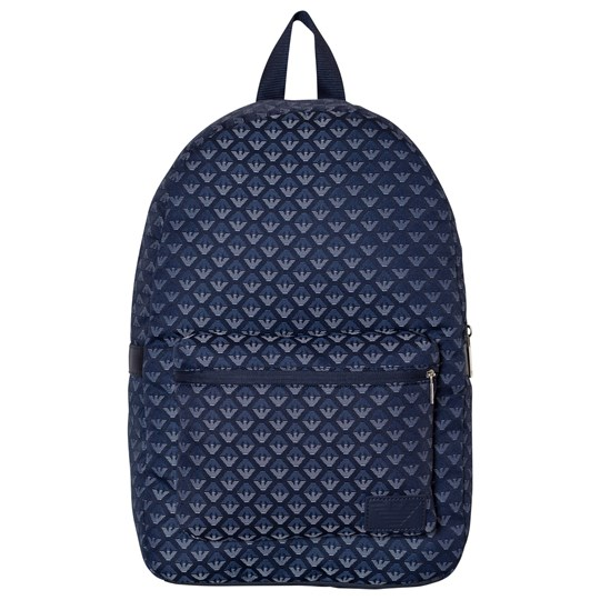 Emporio Armani Blue All Over Logo Backpack 6935