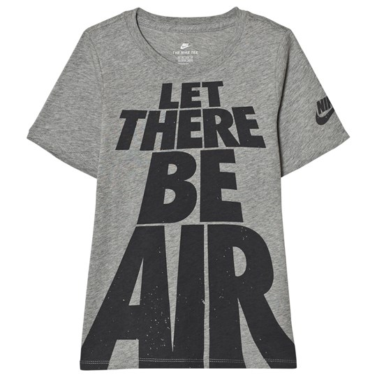 NIKE Grey Let There Be Air Tee DK GREY HEATHER/ANTHRACITE