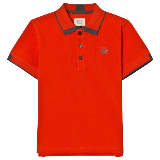 Emporio Armani Orange Classic Logo Pique Polo 1469