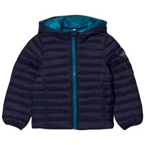 Joules Navy Hooded Pack-Away Puffer Jacket French Navy