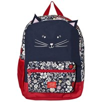 Joules Navy Floral Print Cat Backpack FRENCH NAVY RIA DITSY