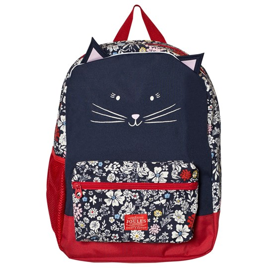 Tom Joule Navy Floral Print Cat Backpack FRENCH NAVY RIA DITSY