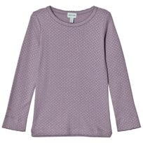 Mini A Ture Purple Long Sleeve Tee Silver Dot Purple