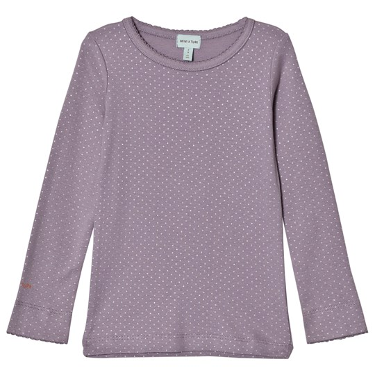 Mini A Ture Tröja med Silver Dot Lila Purple