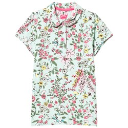 Joules Green Flowered Polo Tee