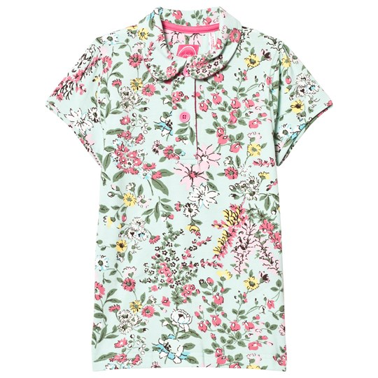 Tom Joule Green Flowered Polo Tee Green