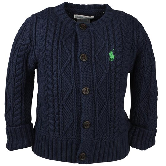 Ralph Lauren Guernsey Cardigan French Blue Blue