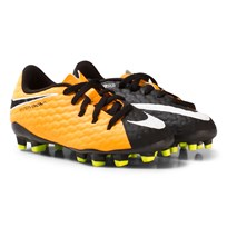 NIKE HyperVenom Phelon III Firm Ground Soccer Boots LASER ORANGE/WHITE-BLACK-VOLT