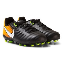 NIKE Tiempo Ligera IV Firm-Ground Soccer Boot BLACK/WHITE-LASER ORANGE-VOLT