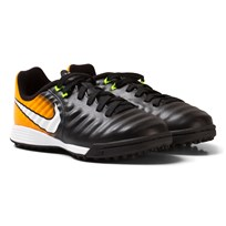NIKE TiempoX Ligera IV Artificial-Turf Soccer Boot BLACK/WHITE-LASER ORANGE-VOLT
