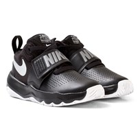 NIKE Black Nike Team Hustle D Sneakers BLACK/METALLIC SILVER-WHITE
