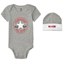 Converse Grey Baby Body, Beanie and Booties Set Black