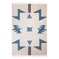 ferm LIVING Kelim Rug - Blue Triangles - Large Blue