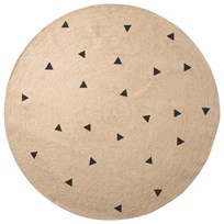ferm LIVING Large Jute Carpet - Black Triangles Black