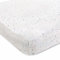 Aden + Anais Night Sky Starburst Cot Lakan White