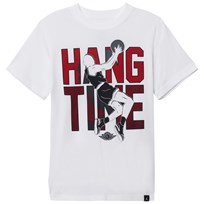 Air Jordan Jordan Hang Time Dri-Fit Tee WHITE/GYM RED