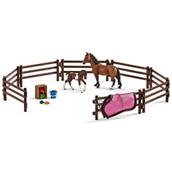 Schleich Paddock with Horses