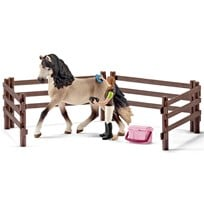 Horse Care Set with Andalusian Horse