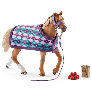 Image of Schleich English Thoroughbred with Blanket (3145069449)
