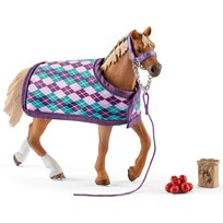 Schleich English Thoroughbred with Blanket Unisex