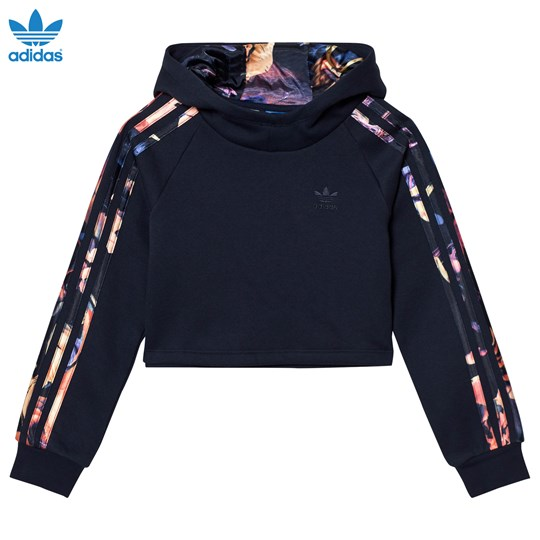 adidas Originals Navy Rose Branded Hoodie LEGEND INK F17/MULTICOLOR