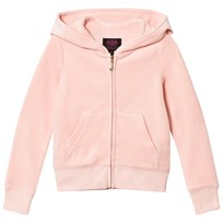 Juicy Couture Pale Pink Jewelled Scotty Logo Velour Hoodie Powder Pink