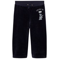 Juicy Couture Navy Jewelled Scotty Logo Velour Track Pants Regal