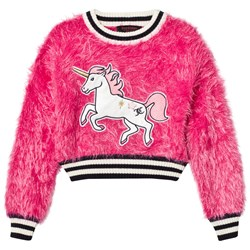 Juicy Couture Fluffy Unicorn Tröja Hot Pink