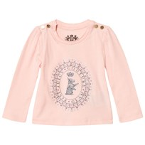 Juicy Couture Pale Pink Glitter Scotty Logo Tee Powder Pink